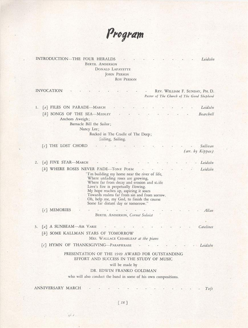1949 Concert Program Pg 2 resized