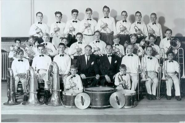 Boys Band at Salvation Army in 1945