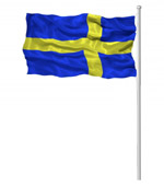 Swedish Waving Flag-reversed