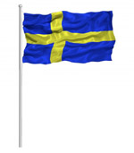 Swedish Waving Flag